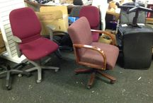 Office Chairs / HOOD'S West Alton, Missouri has office chairs in the front of the store.  Some of the chairs are complete.  There are also parts which can be used if you have a broken chair.  Come in and check out all of our inventory.
