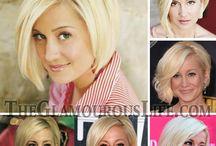 korte  blonde coupe