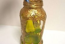 ideas with glass bottles/jars etc