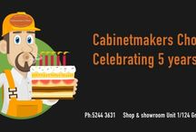 Let's celebrate / Cabinetmakers Choice is a successful Geelong based business servicing trade clients and DIY clients throughout regional Victoria in everything cabinetry and wardrobes.  We like to give back to the community and we celebrate our achievements.