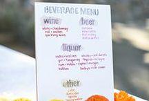 Wedding Bar Menus / Beautiful wedding bar menus