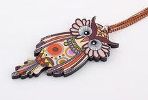 Cute laser cut owl necklaces