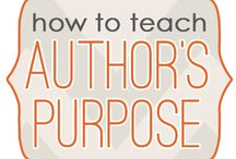 Author's Purpose (P.I.E.) / by Sharon Matney