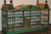 Cageries / Old, collectible birdcages