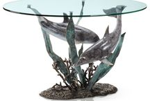 Dolphins / Dolphins home decor statues sculptures wall art brass stone resin marble nautical marine decor