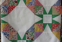 Quilts, patchwork, blocks, Dresden plates