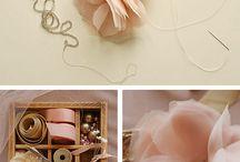 fiori handmade / fiori fatti a mano con materiali diversi