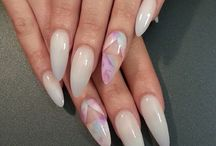 Nails milky white