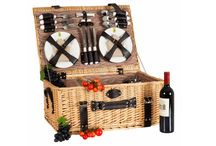 Picnic Baskets / Beautifully handmade picnic baskets made in France using top quality materials. Take to the beach, a garden party or an event. With cooling pockets and wine holders these are your perfect outdoor accessories.