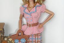 heklet dress til barbie