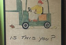 Folk Art Safety Poster / Before OSHA you had to draw your own workplace safety posters.