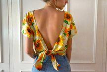 Costas blusas/vestidos