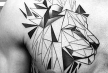geometric tattoo men