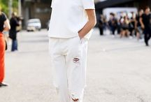 white denim / all things white in the denim world / by Anna Hart / South Molton St Style