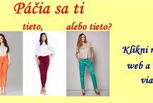 Dámske oblečenie / Dámy a páni, kliknite si na našu webstránku www.lacnabielizen.sk a zaodejte sa od hlavy až po päty.