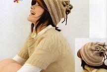 Háčkované klobouky, čepice