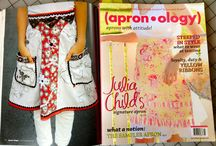 My Aprons As Seen in Apronology / My handmade couture aprons as seen in Apronology 2011-2014