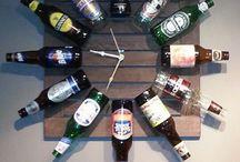 relógios de garrafas