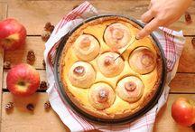 Bratapfelkuchen m. Marzipan