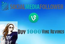 Buy Vine Revines / Revines on vine is same as twitter retweets. It helps to get improved search results when you buy vine revines. The more revines mean more popularity.