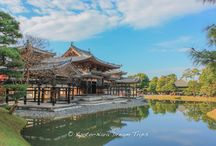 Byōdō-in: A World Heritage Site in Uji City, Kyoto. / Byōdō-in (平等院) is a Buddhist temple in the city of Uji in Kyoto Prefecture, Japan. This temple was originally built in 998 in the Heian period as a rural villa of high ranking courtier Minamoto no Shigenobu. The villa was made into a Buddhist temple by Fujiwara no Yorimichi in 1052. The most famous building in the temple is the Phoenix Hall (鳳凰堂), constructed in 1053.