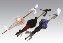 Dollhouse-Miniature parasols,gloves,handbag