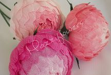 Bridal paper flowers peony