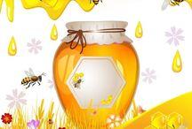 Пчелы, мед соты