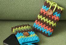 Háčkovaný obal na mobi, tablet, notebook / crocheted cover for mobile phone