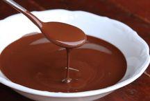 sauce sucrée, chocolat