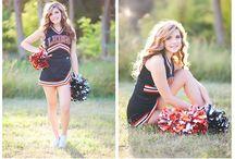Senior photo session for Cheerleader
