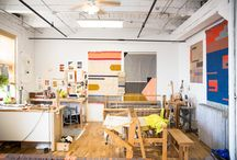 Crafty workspaces / Lovely spaces of crafters and makers