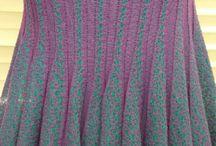 origami / plisse' ottenuto in maglieria smacchinata da particolari lavorazioni con contrasto filato e colore