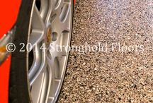 Garage Coatings - Chip / Decorative, protective coatings for residential garages installed by Stronghold Floors.