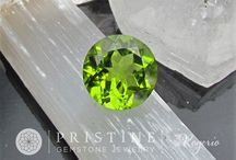 Peridot and Spinel August Birthstones / Choose your shape & unique gemstone., and we'll create your vision. All jewelry is Precision cut by Rogerio Graca