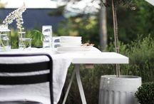 Uterom / Hage,blomster,terrasser