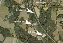 Drilled Fracking Sites - England