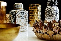 Shimmer and Shine / Let precious metals infuse your decor with opulence.