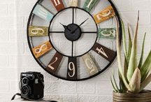 Industrial Style Clocks / Made in India from what is otherwise considered as rubbish or scrap!