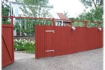 Plank trädgårds avdelare