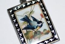Birds - Vintage Charms & Bracelets / Vintage Silver & Enamel Bird Charms, Vintage Silver Bird Charms, Vintage Enamel Bird Charms