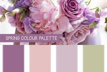 Wedding Colour Pallets / Beautiful colours for your wedding theme