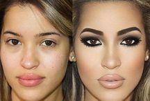 Before makeup and After makeup