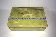 ONYX JEWELRY BOXES RECTANGLE GREEN ONYX TRINKET DECORATIVE NATURAL STONE