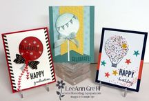 Handmade Cards- SU- Celebrate Today / Celebrate Today Stampin Up stamp set & Framelits Balloons & birthday