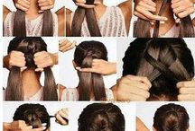 Hair Styling Techniques / Different kinds of quick and easy but cool hair styling styling, more on braids