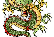 Painting. Dragon.