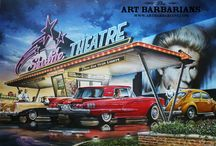 american drive-in cinema