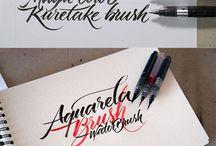 Brush pen lettering ✏️
