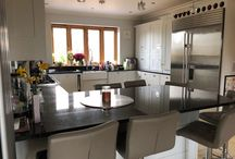 Solid Wood Painted Smallbone Kitchen with Falcon Range
